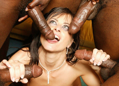 Cecilia Vega Gets Gangbanged and Tortured by 6 Big Black Guys