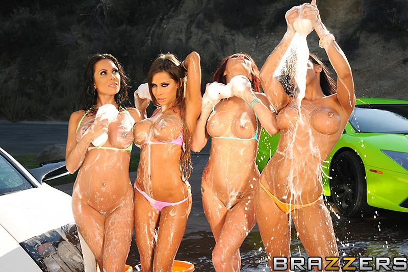 Carwash Day! Bubble Butts and Sudsy Sluts Kirsten Price, Madison Ivy, Monique Alexander, Rachel Starr & Keiran Lee