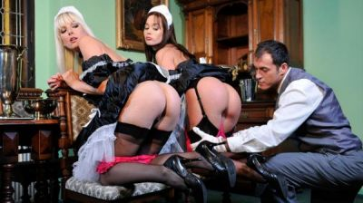 Cindy Dollar, Lena Cova – TWO MAIDS HAVING FUN WITH THE BUTLER