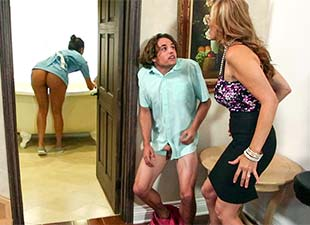Julia Ann & Abby Lee Brazil – StepMom threesome with the maid