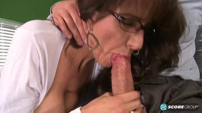 PornMegaLoad 15 01 28 Cassie Cougar Fucking The Big-Titted MILF Whos Wearing Glasses