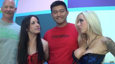 Jennifer White Laela Pryce And Nina Elle Three Whores For A Lucky Fan