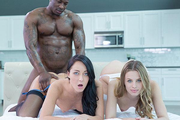 Jillian Janson & Sabrina Banks – Two Girlfriends Share A Huge Black Cock
