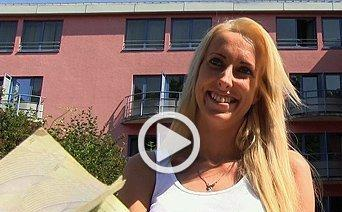 Public Agent – Slim blonde cheats on hubby for cash in public