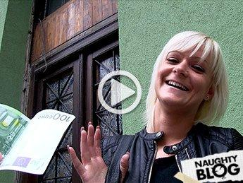 Public Agent – Cute Hungarian cums on a big cock