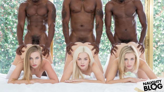 Elsa Jean, Rachel James & Sydney Cole – Preppy Girl Threesome Get Three BBCs