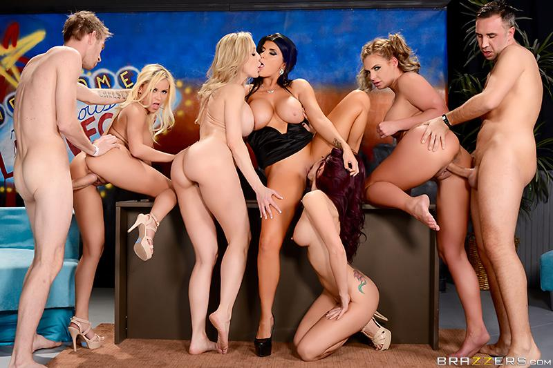 The Late Night Orgy Brandi Love, Marsha May, Monique Alexander, Phoenix Marie, Romi Rain, Danny D & Keiran Lee