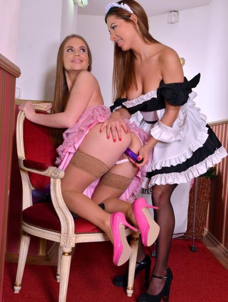 Alessandra Jane, Ally Breelsen – Two Pussies Probed – Dirty Lesbian Maids Clean House