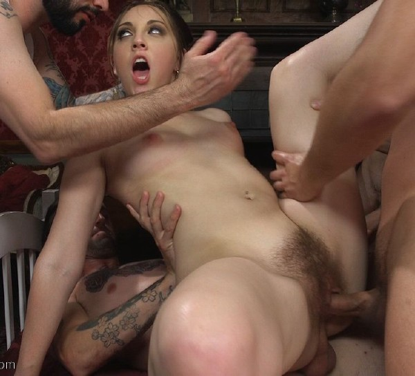Nickey Huntsman – Dick crazy co-ed takes all the dick airtight!