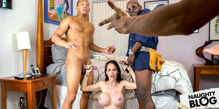 Mckenzie Lee – Lonely Housewife Gets Stuffed With 2 Monster Cocks