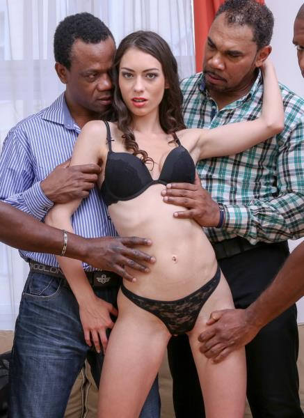 Arwen Gold – Facing 4 Huge Black Dicks. Mega Interracial Gangbang IV005