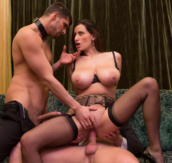 Sensual Jane – Sensual, the big tits milf gets fucked by 2 men
