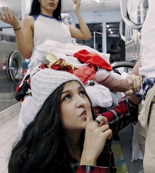 Annika Eve – Latina Gets Facial In Laundromat