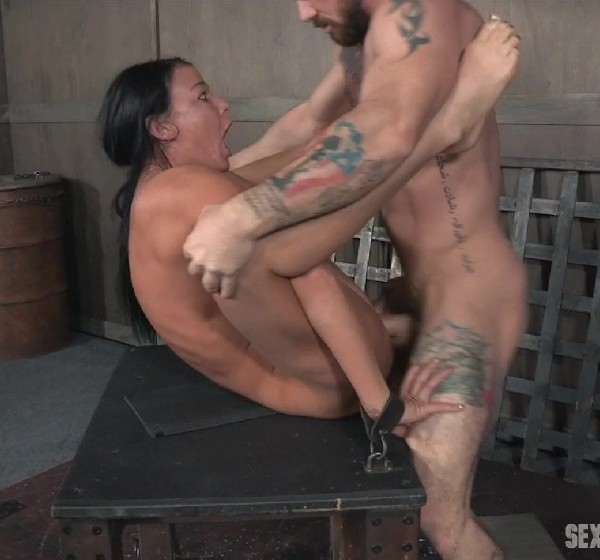 London River, Matt Williams, Sergeant Miles – London River double fucked into subspace. Screaming, struggling, begging, cumming, squirting!