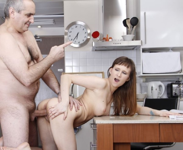 Stasya Stone – Old teacher punishes his lazy student with his old wrinkled dick