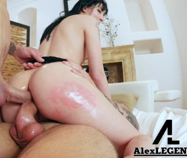 Charlotte Sartre, Alex Legend – Charlotte Sartre Takes 2 Huge Cocks In Her Ass