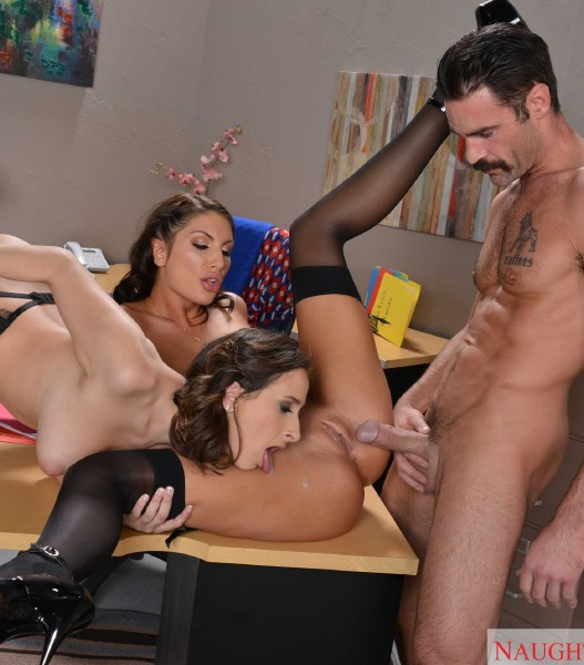 ASHLEY ADAMS & AUGUST AMES & CHARLES DERA Naughty Office