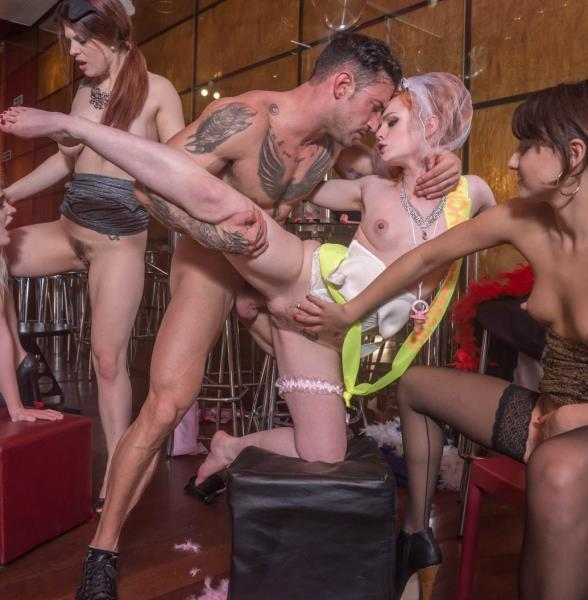 Carly Rae, Ella Hughes, Lucia Love, Suzy Rainbow – Interracial nightclub orgy complete with squirting, anal and DP