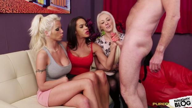 Pure CFNM – Amber Deen, Angelina Elise & Barbie Sins