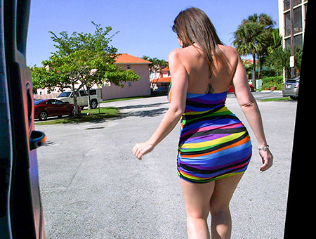 Sara Jay's Huge Ass Fucked On The BangBus In Miami!