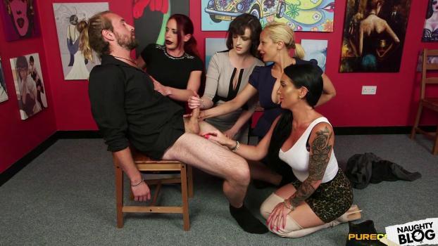 Pure CFNM – Diverse Stacey, Ella Bella, Katie Olsen & Romana Ryder