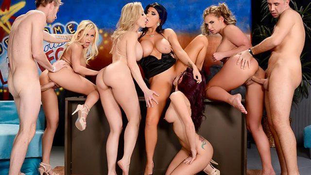 The Late Night Orgy Brandi Love, Marsha May, Monique Alexander, Phoenix Marie, Romi Rain, Danny D & Keiran Lee