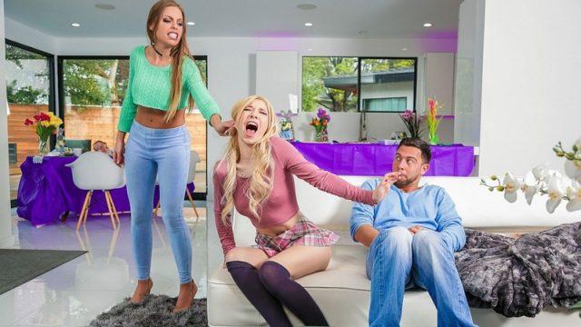Britney Amber, Kenzie Reeves – Easter Dinner At Stepmoms