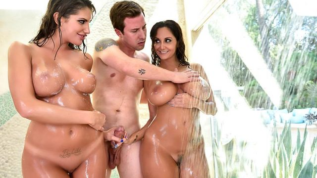 Wife Showers With The Babysitter August Ames, Ava Addams & Jessy Jones