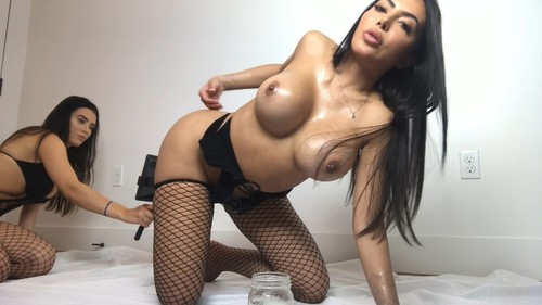 [OnlyFans / LelaStar] Lela Star + Lana Rhoades + Oil = Ultimate Ass Party