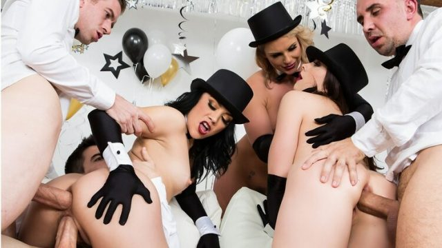 Chanel Preston, Kristina Rose, Phoenix Marie Brazzers New Years Eve Party