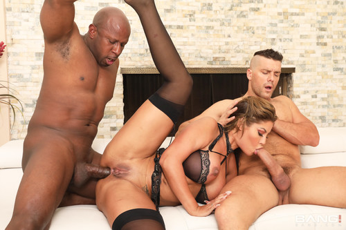 Bridgette B Gets Her Holes Drilled By Two Dicks