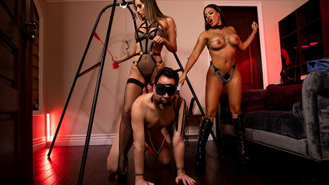The Dommes Next Door: Double Dommed Desiree Dulce, Luna Star & Keiran Lee