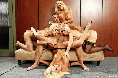 Office 4-play VI Courtney Taylor, Nikki Benz, Nina Elle, Summer Brielle & Keiran Lee