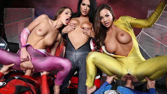 Power Bangers: A XXX Parody Part 5 Abigail Mac, Katrina Jade, Kimmy Granger, Lucas Frost & Xander Corvus